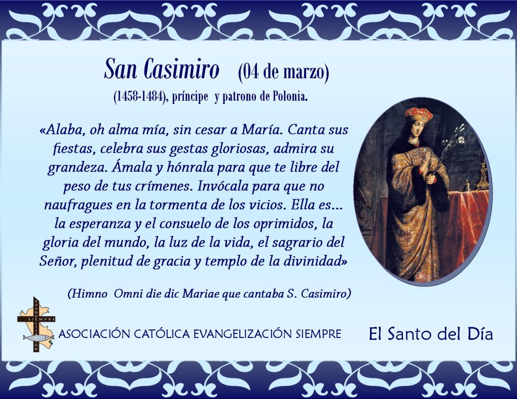 04 marzo San Casimiro