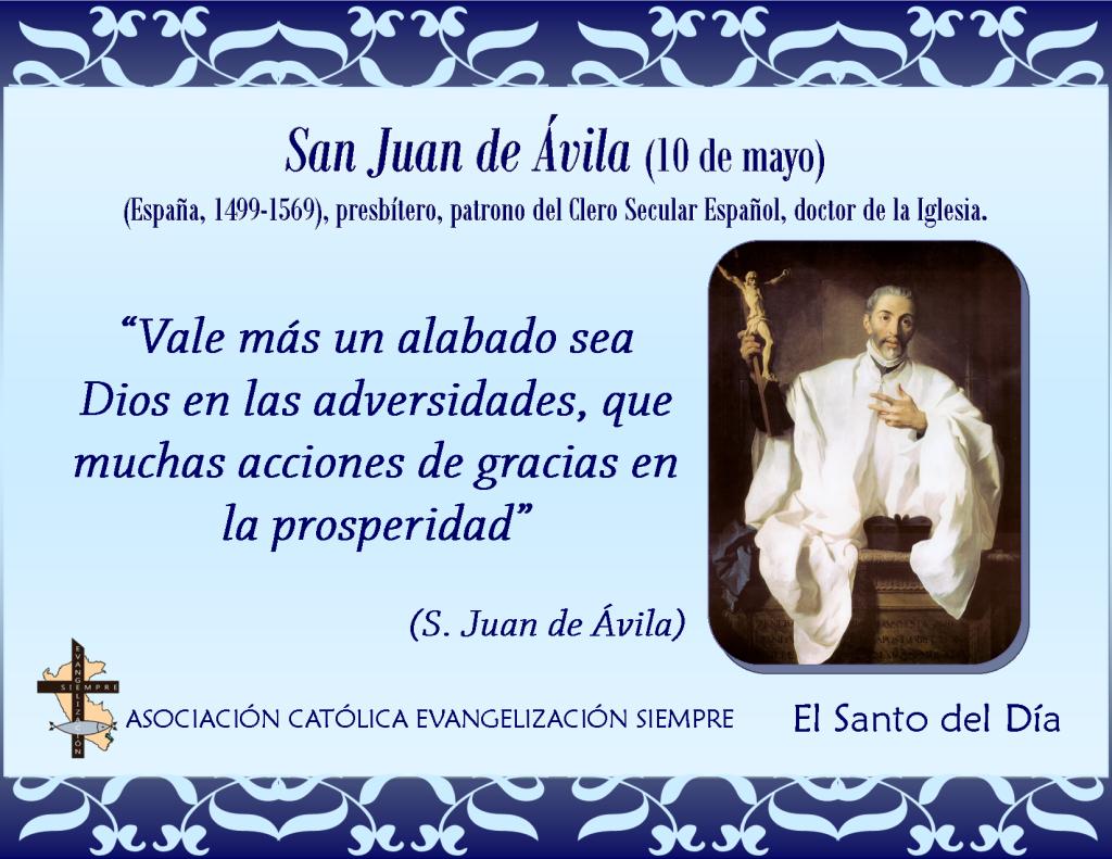 10 de mayo San Juan de Ávila
