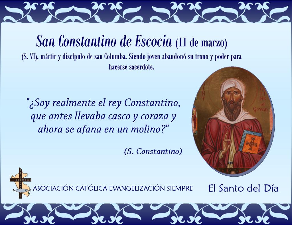 11 marzo San Constantino de Escocia
