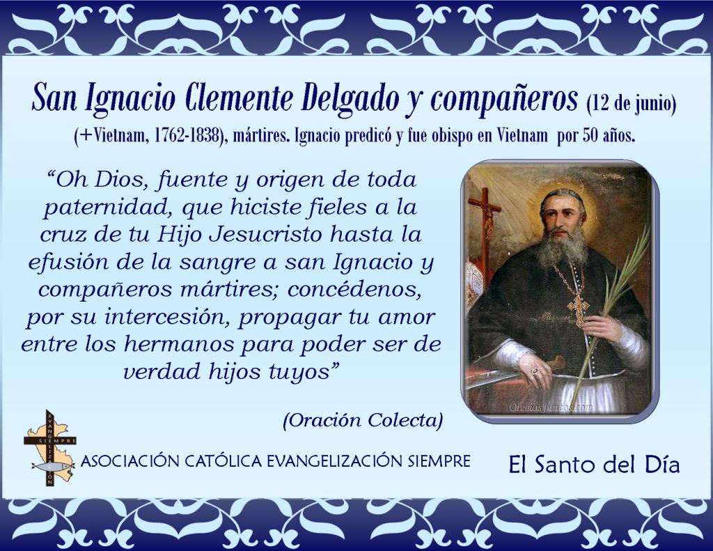 12 de julio San Ignacio Clemente Delgado y compañeros