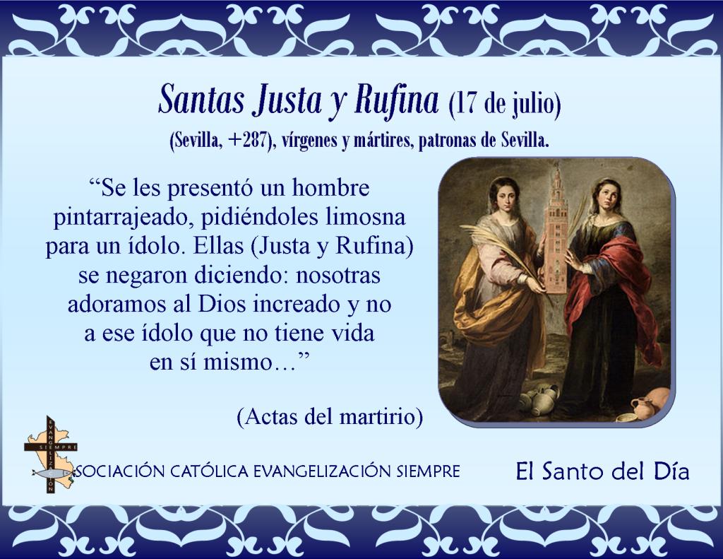 17 de julio Santas Justa y Rufina