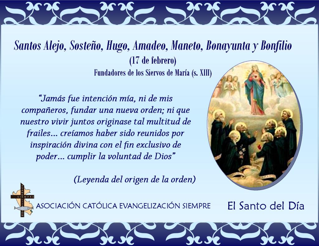 17 febrero Santos Alejo.Sosteño.Hugo.Amadeo.Maneto.Bonayunta y Bonfilio