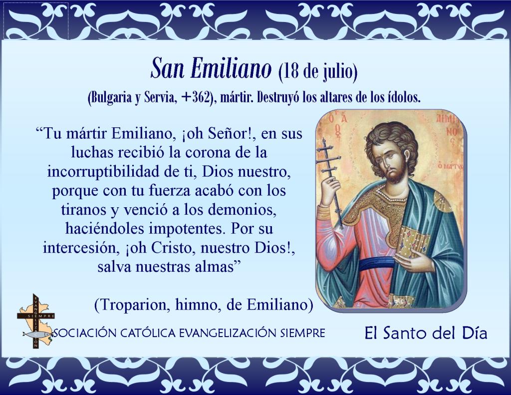 18 de julio San Emiliano