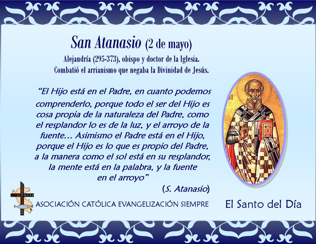 2 de mayo San Atanasio
