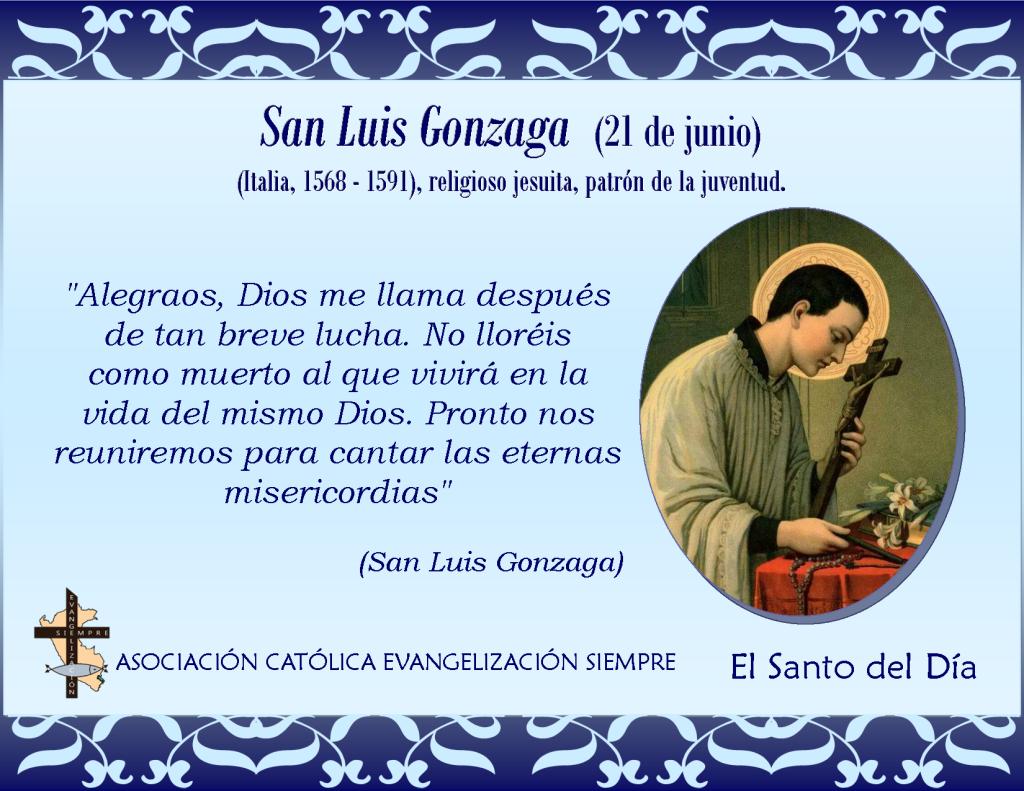 21 de junio San Luis Gonzaga