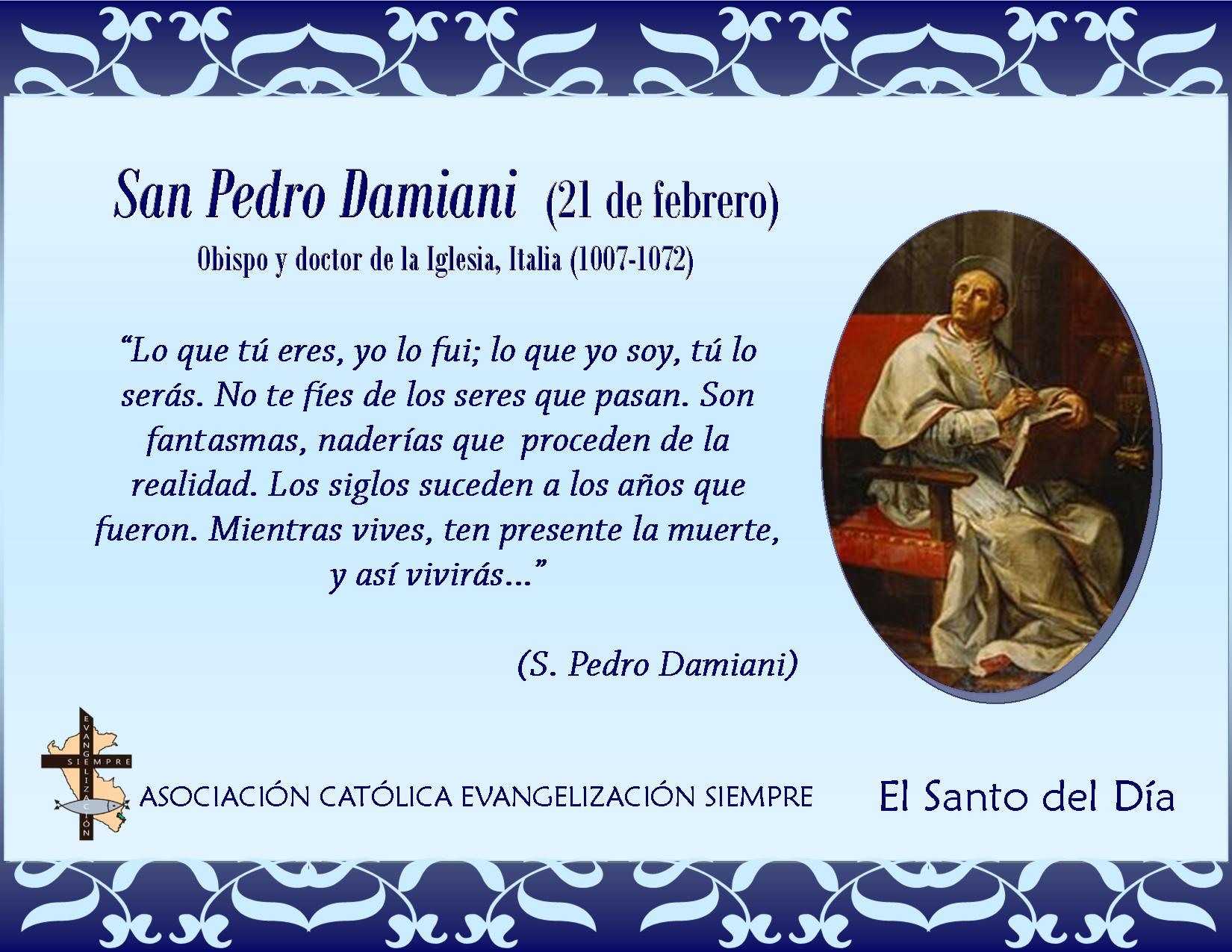 21 febrero San Pedro Damiani