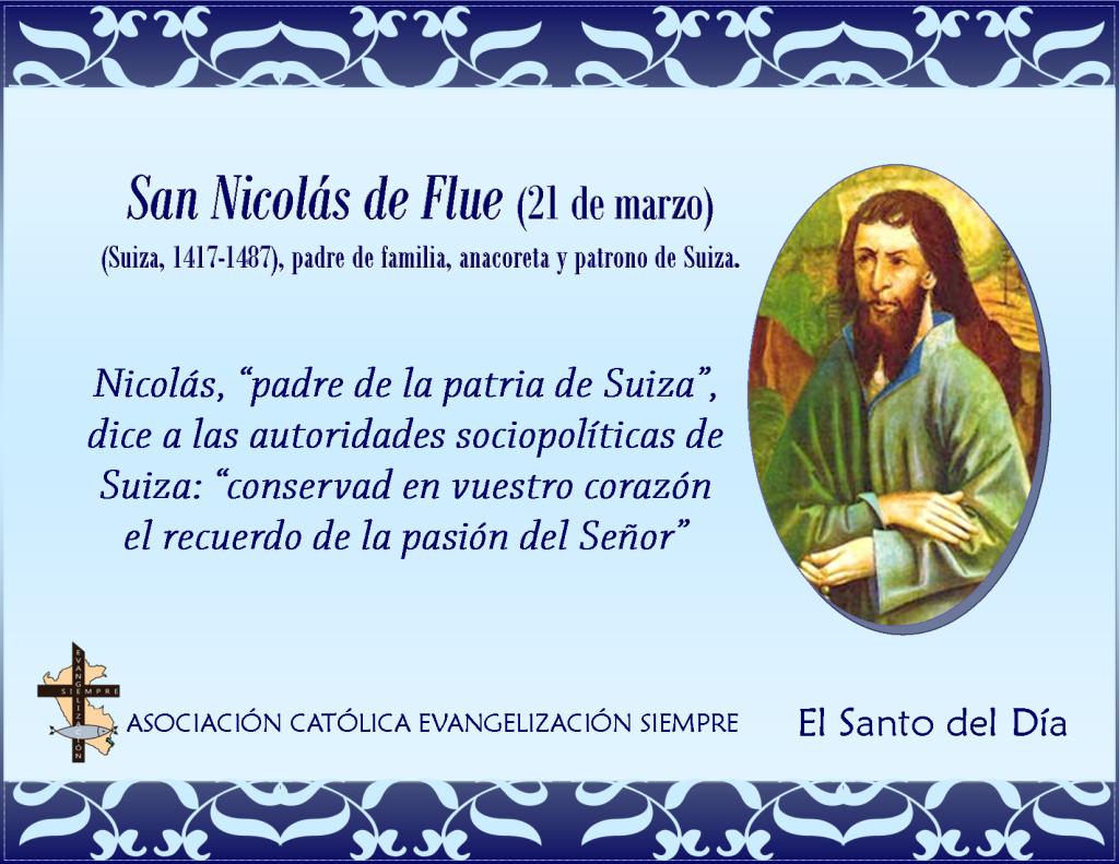 21 marzo San Nicolás de Flue