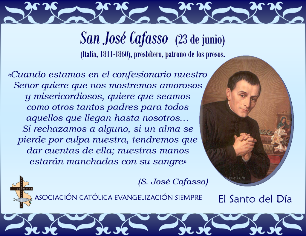 23 de junio San José Cafasso