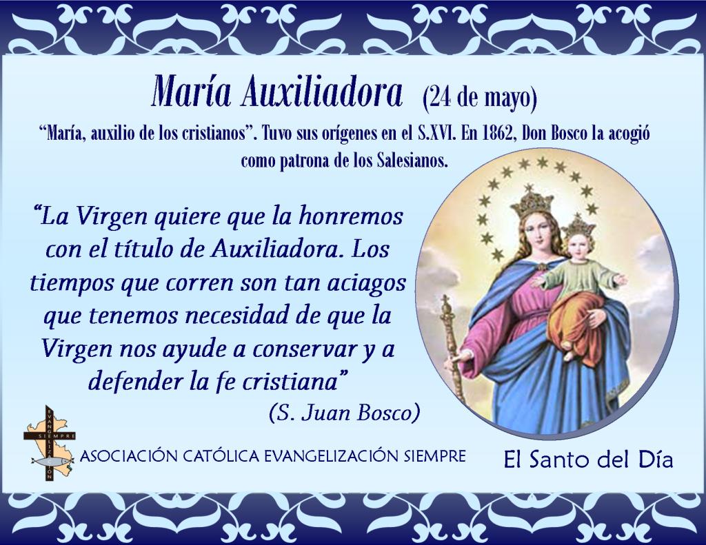 24 de mayo María Auxiliadora