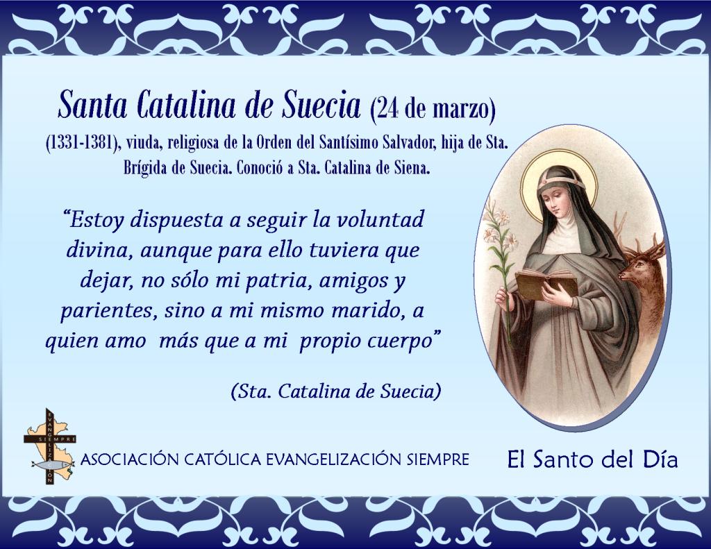 24 marzo Santa Catalina de Suecia