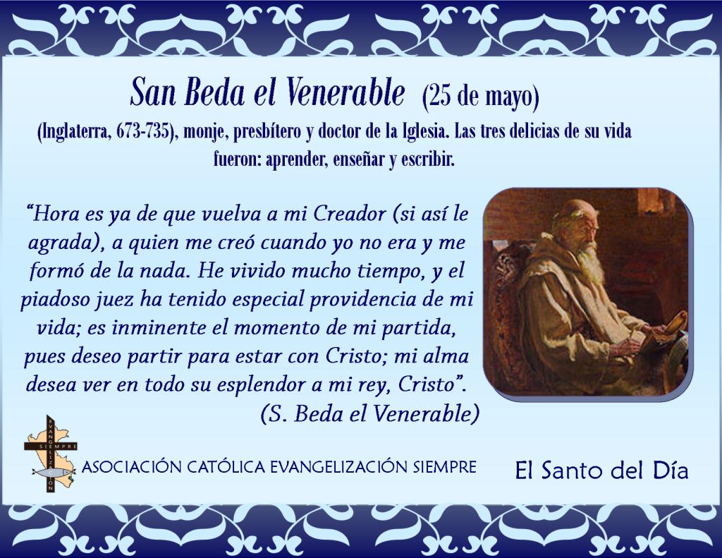 25 de mayo San Beda el Venerable