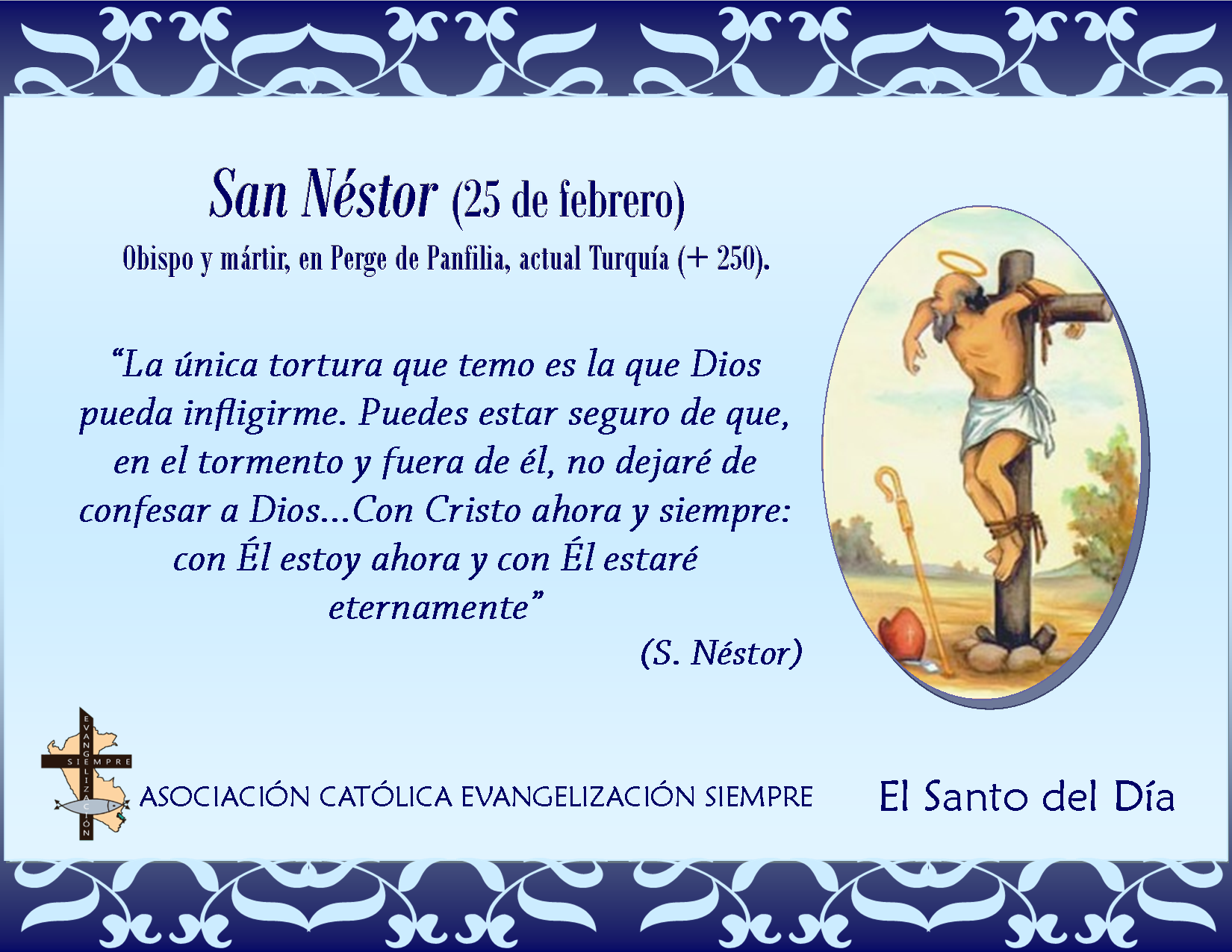 25 febrero San Néstor}
