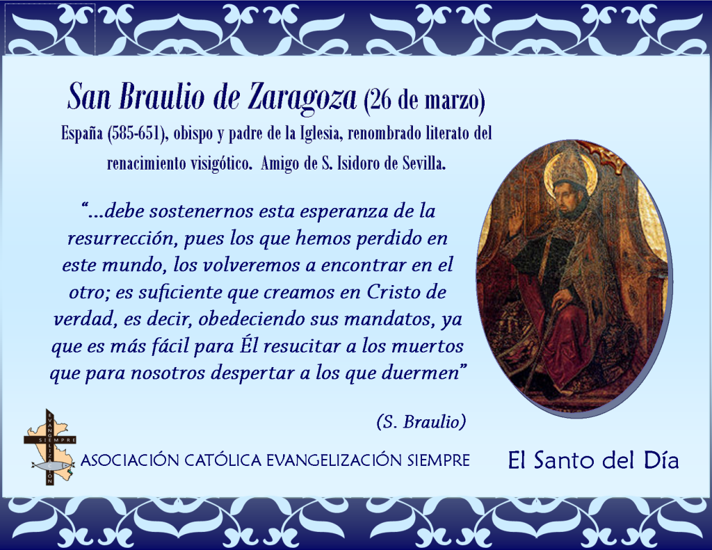 26 de marzo San Braulio de Zaragoza