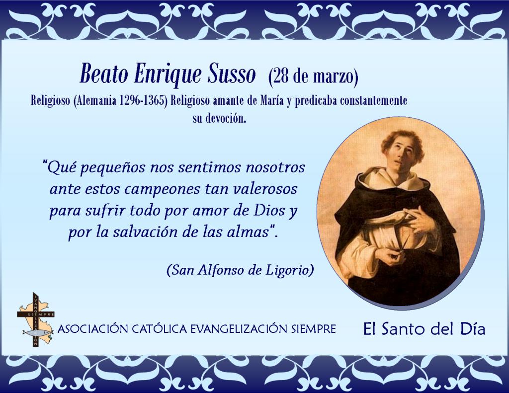 28 marzo Beato Enrique Susso