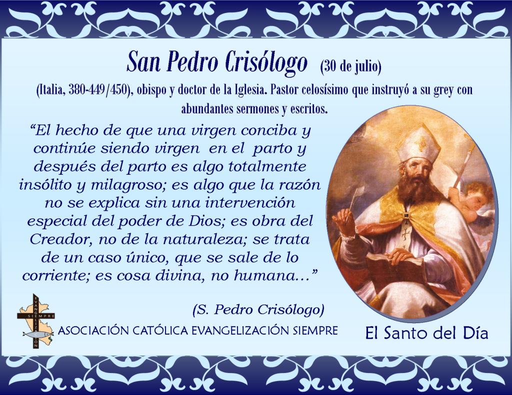 30 de julio San Pedro Crisólogo