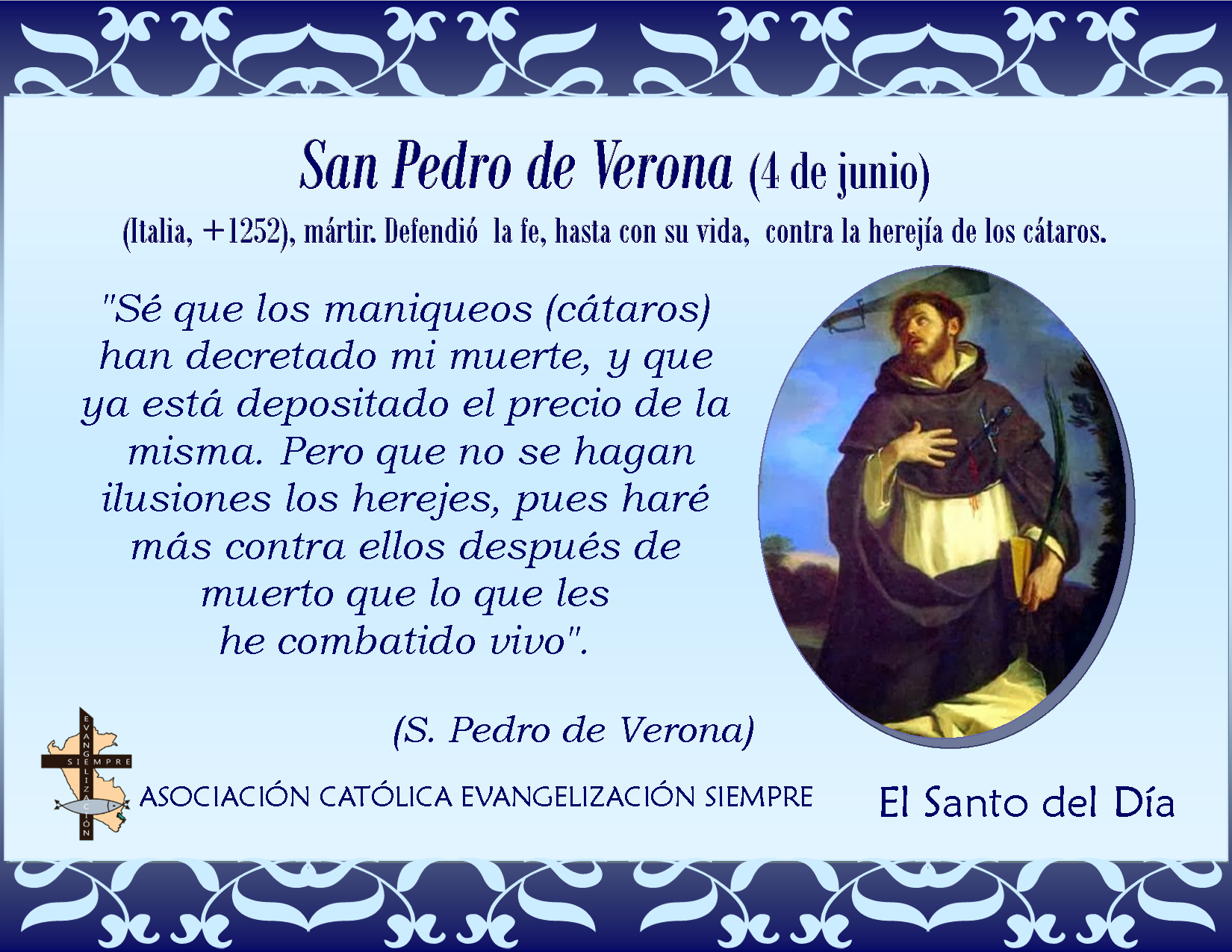 Resultado de imagen para San Pedro de Verona-29 de Abril