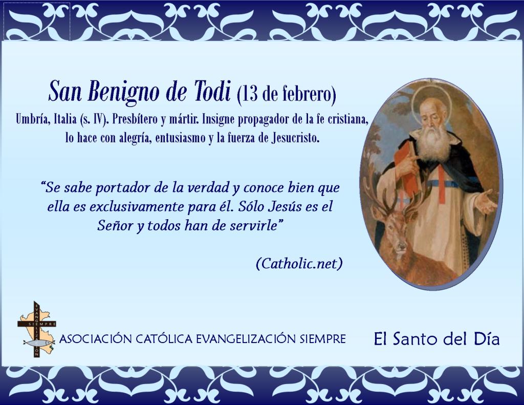 13 febrero San Benigno de Todi