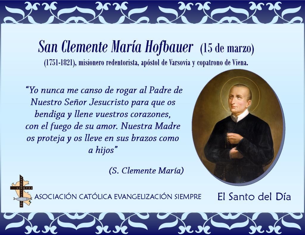 15 marzo San Clemente María Hofbauer