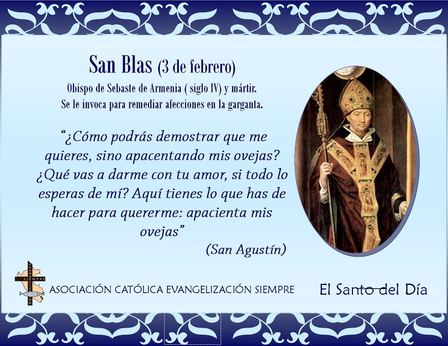 3 febrero San Blas