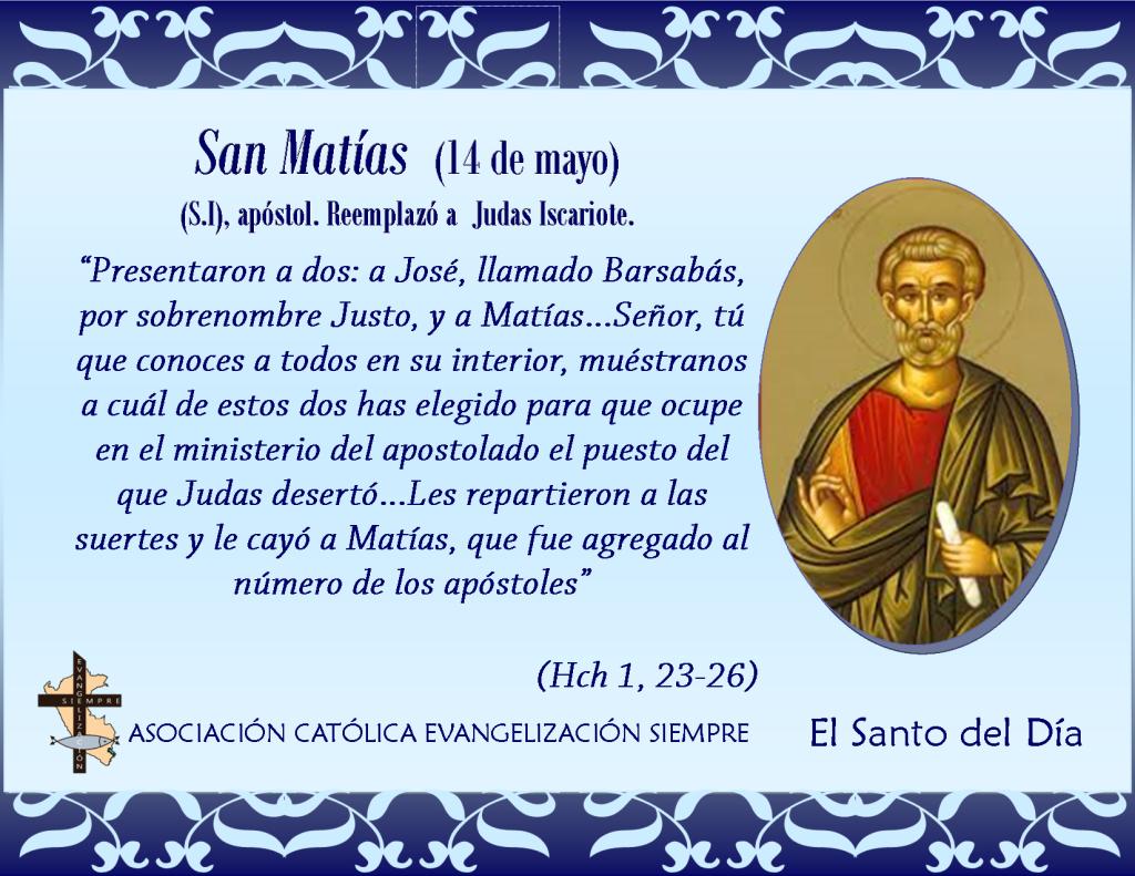 14 mayo San Matías