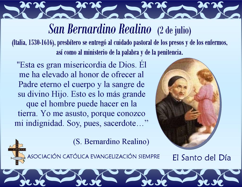 2 de julio San Bernardino Realino