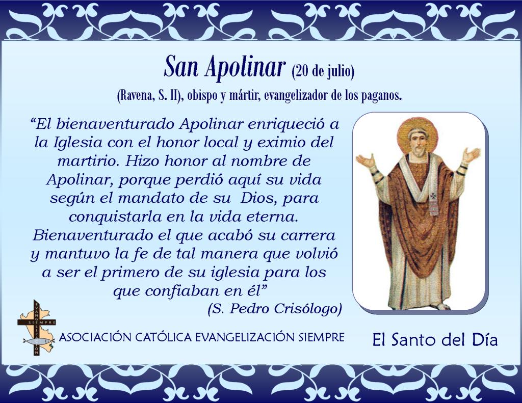 20 de julio san Apolinar