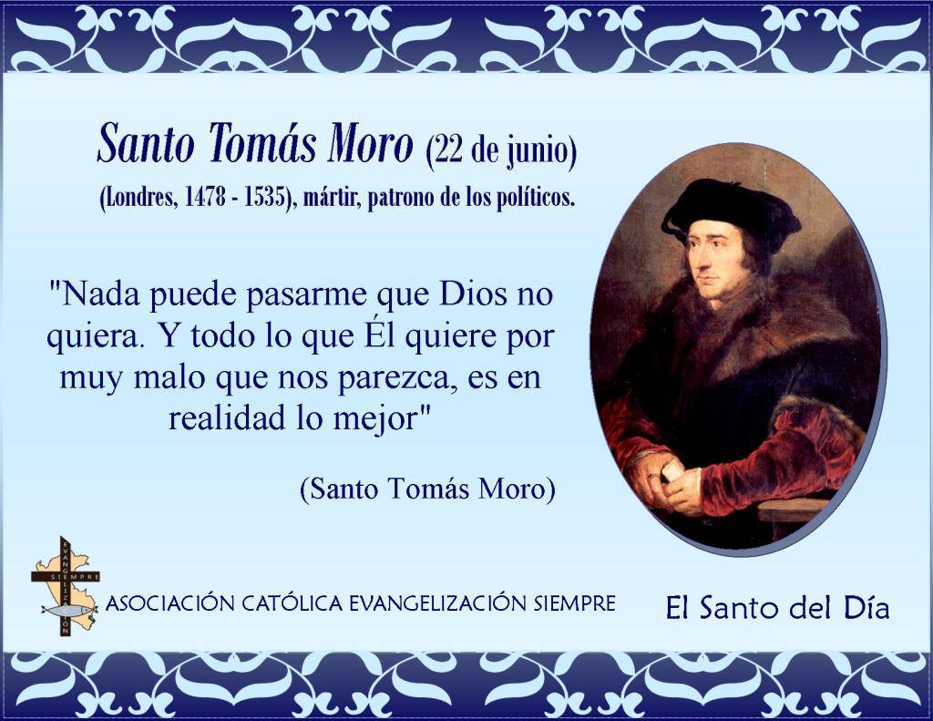 22 de junio Santo Tomás Moro