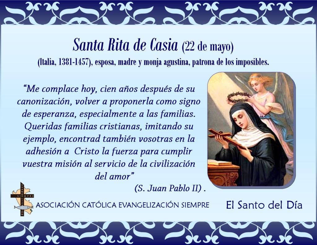 22 de mayo Santa Rita de Casia