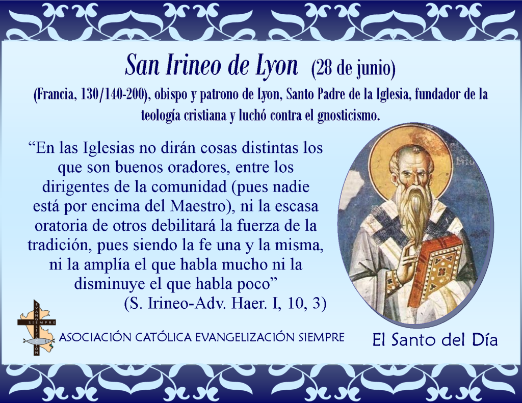 28 de junio San Irineo de Lyon