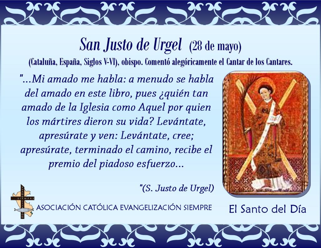 28 de mayo San Justo de Urgel