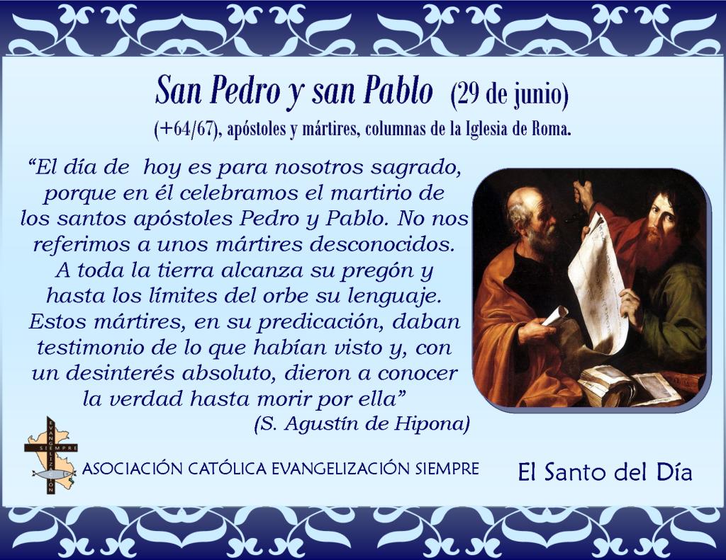 29 de junio San Pedro y San Pablo