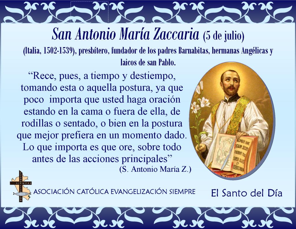 5 de julio San Antonio María Zaccaria