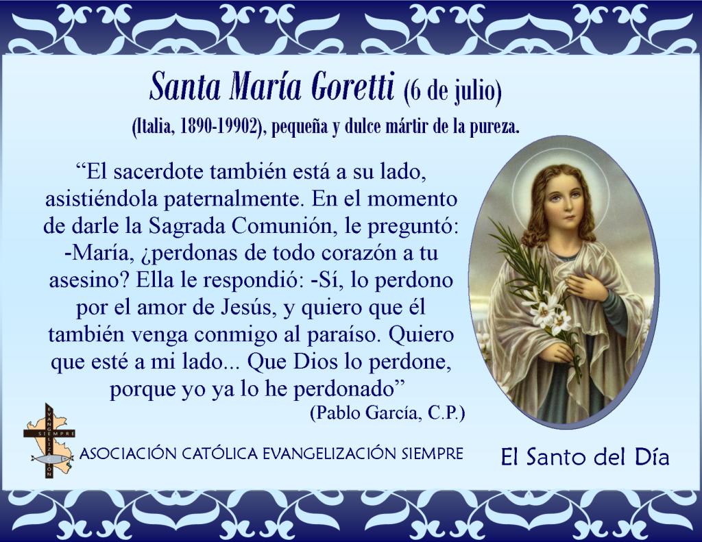 6 de julio Santa María Goretti