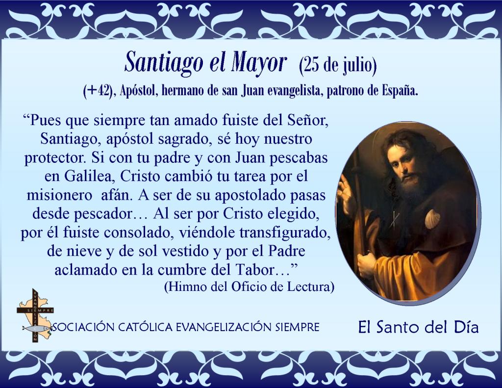 25 de julio Santiago el menor