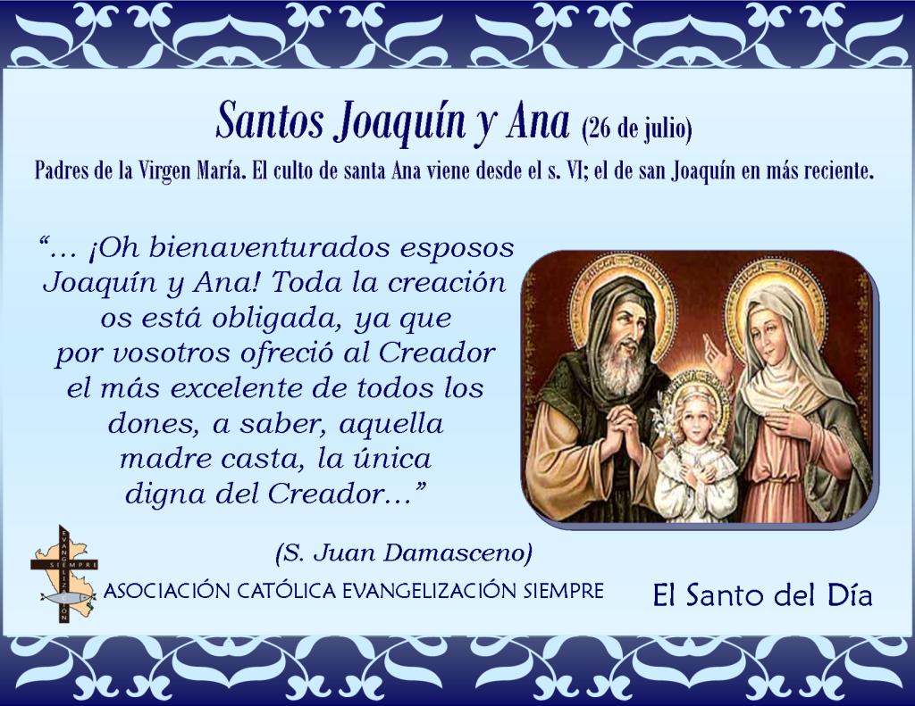 26 de julio San Joaquín y Santa Ana