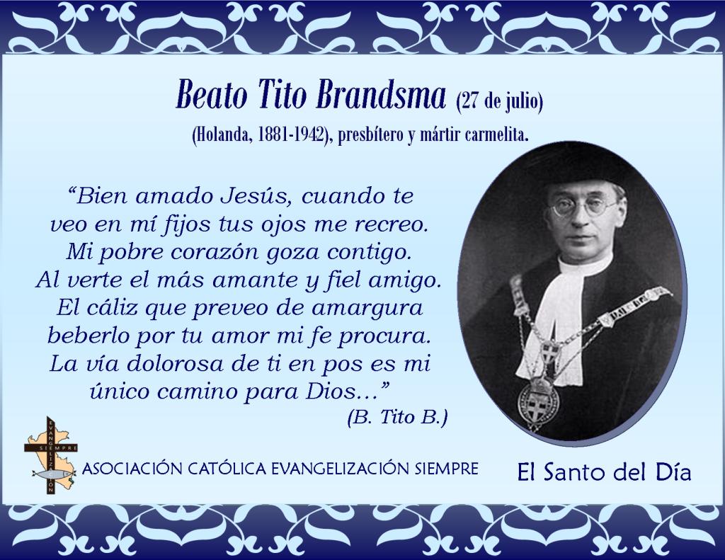 27 de julio Beato Tito