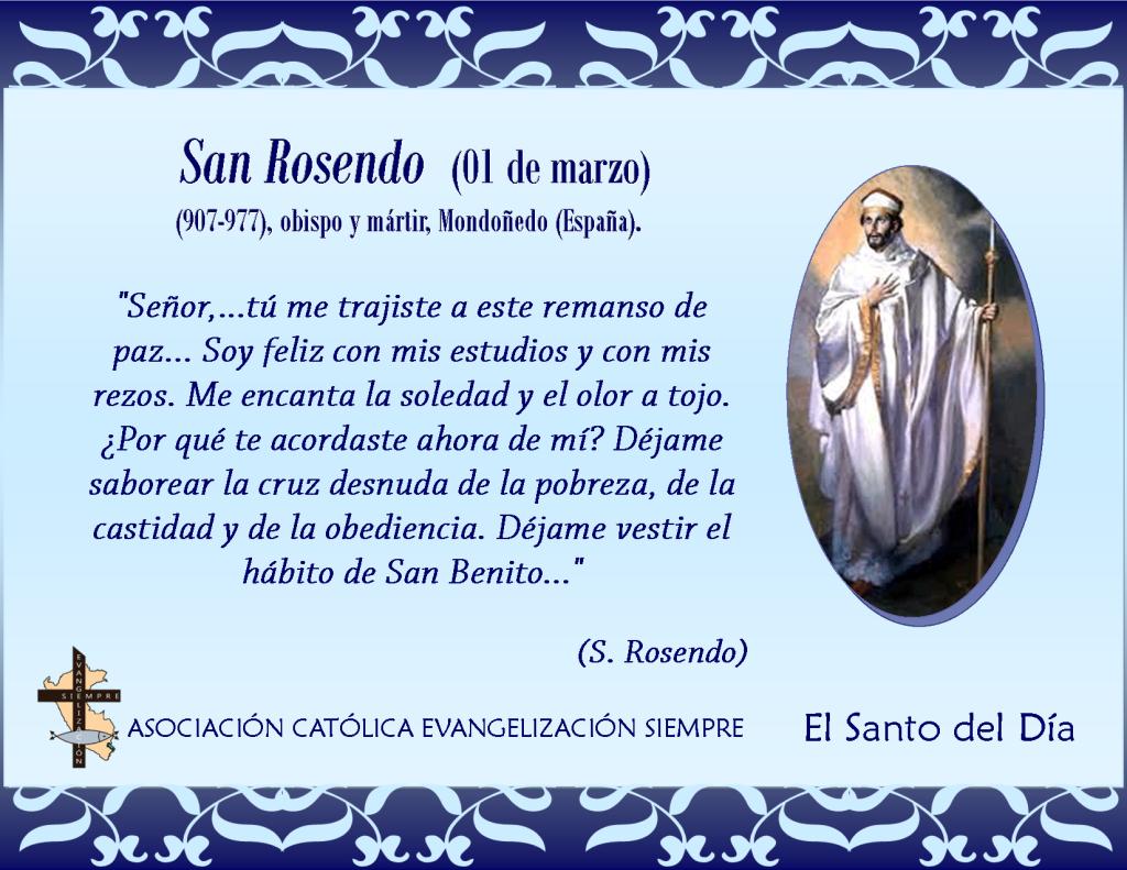 01 de marzo San Rosendo