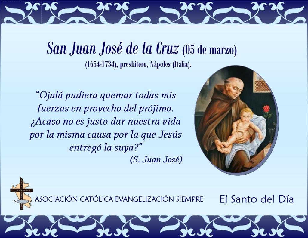 05 marzo San Juan José de la Cruz
