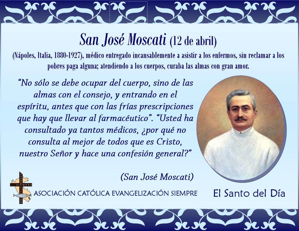 12 abril San José Moscati
