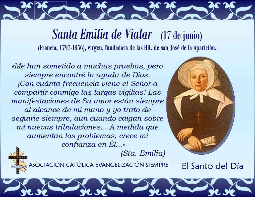 17 junio Santa Emilia de Vialar