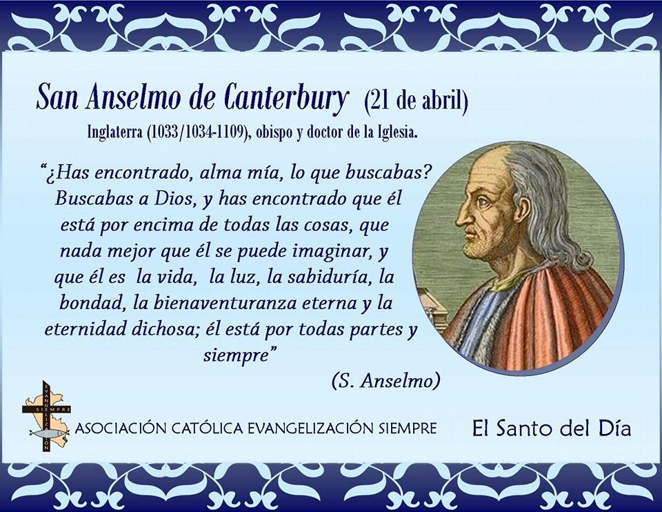 21 abril San Anselmo de Canterbury