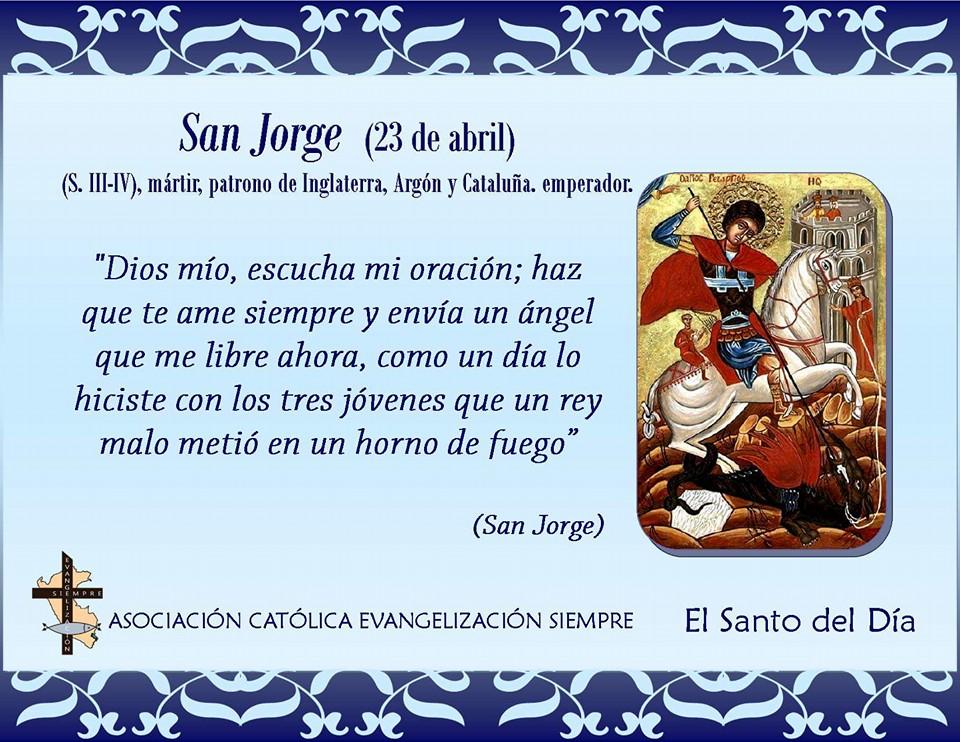 23 abril San Jorge