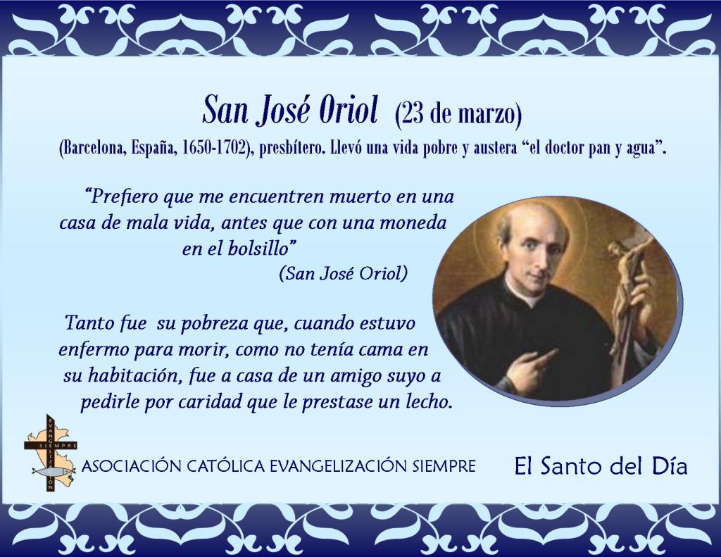 23 marzo San José Oriol