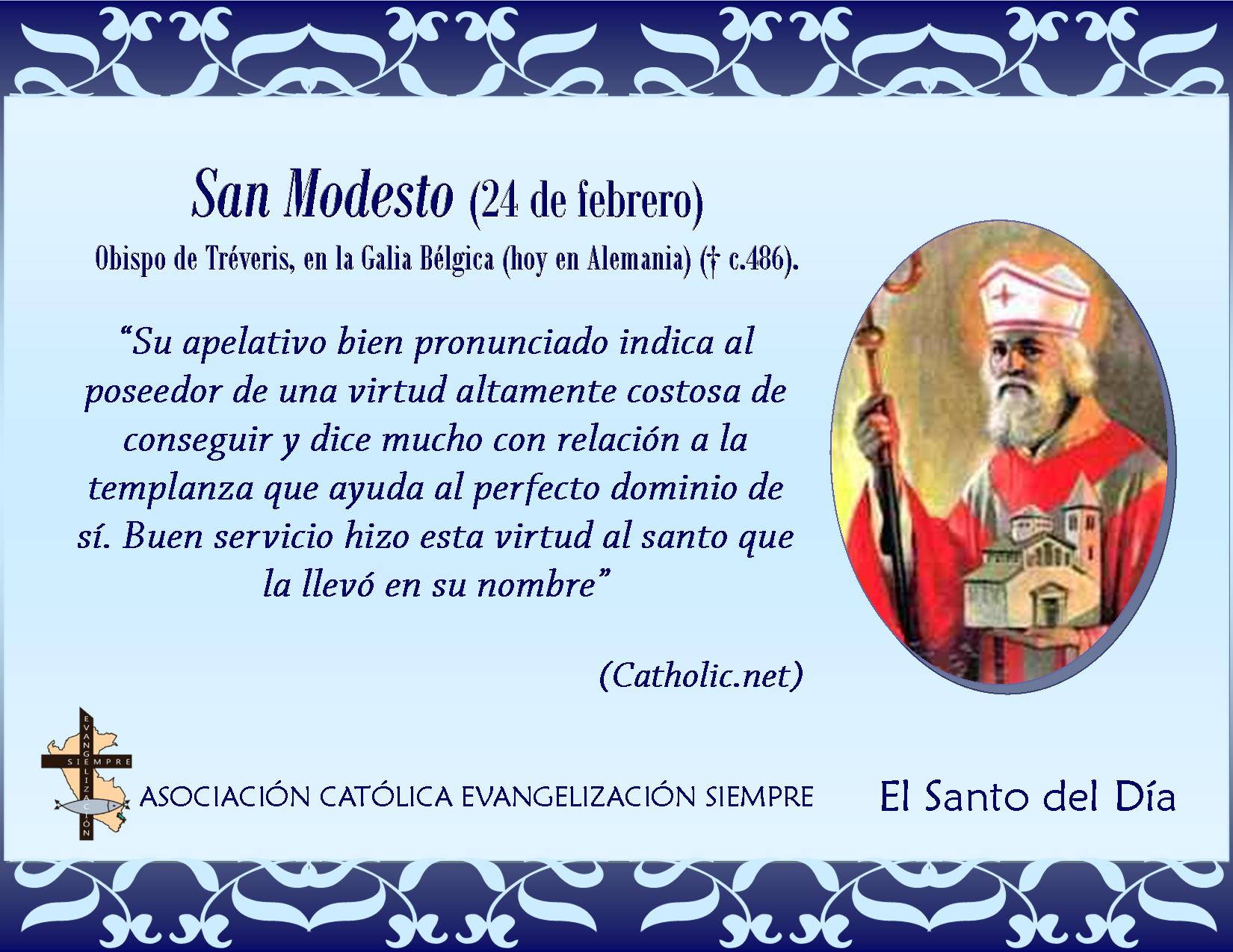 24 febrero San Modesto