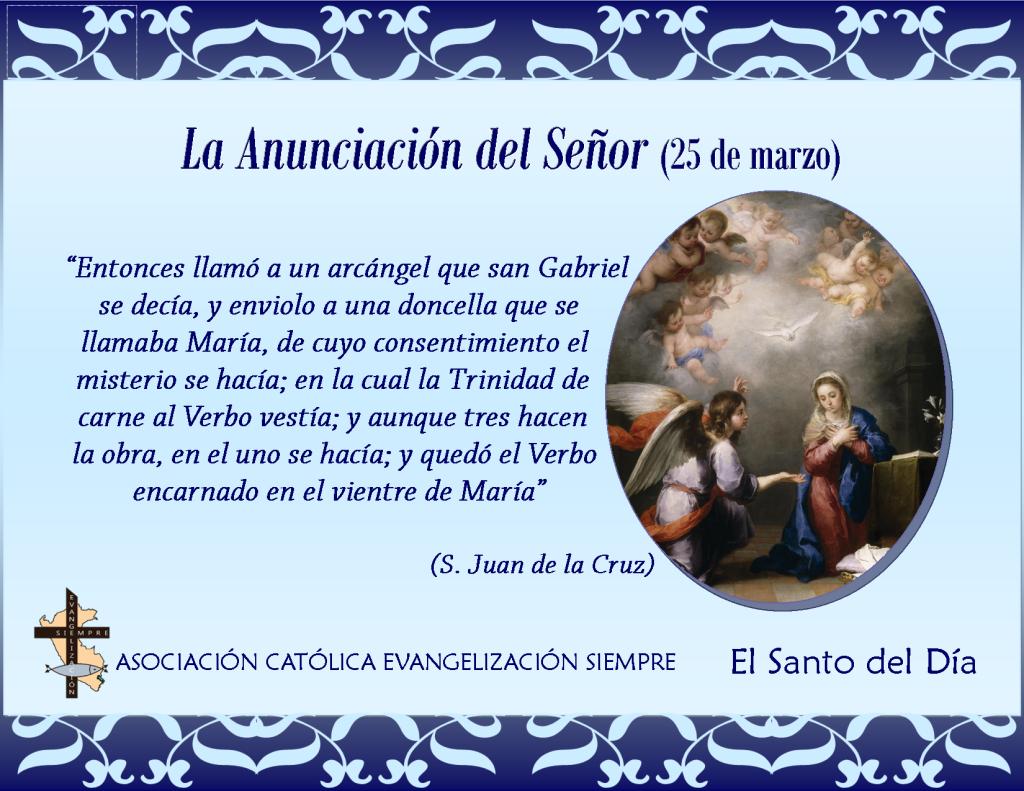 25 de marzo La anunciación del Señor