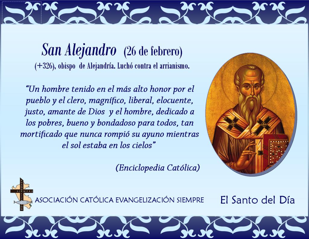 26 febrero San Alejandro
