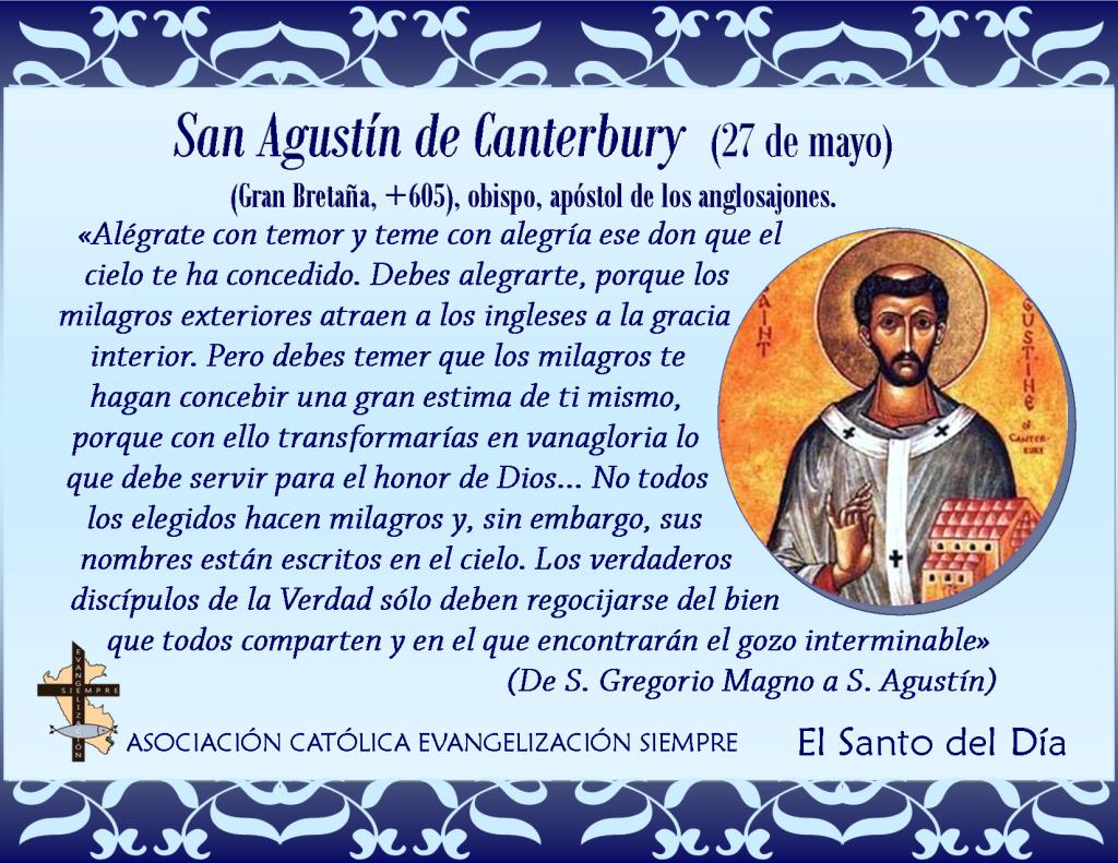 27 de mayo San Agustín de Canterbury