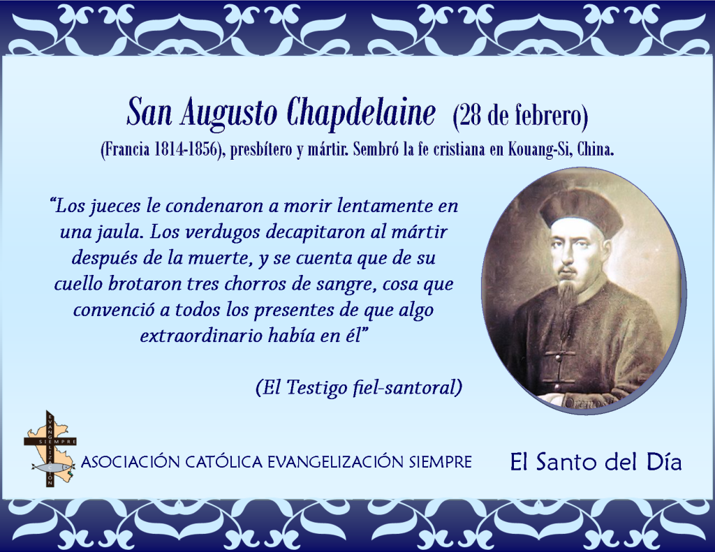 28 febrero San Augusto Chapdelaine