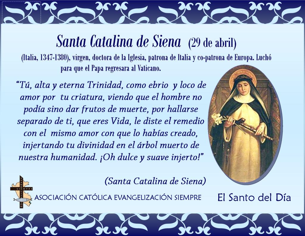 29 abril Santa Catalina de Siena
