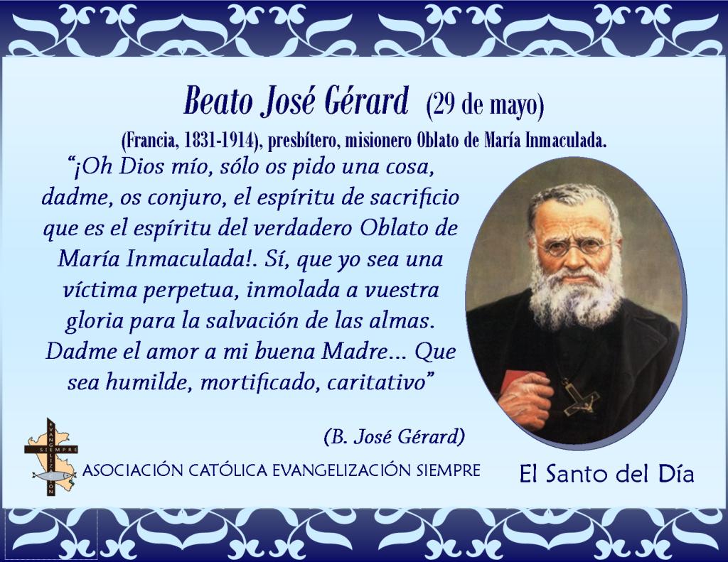 29 de mayo Beato José Gérard